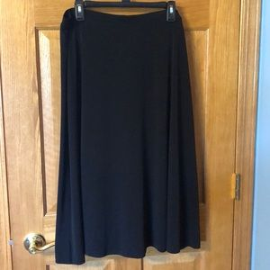 Black mid length skirt